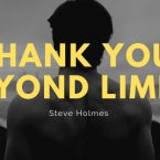 A Thank You beyond limits
