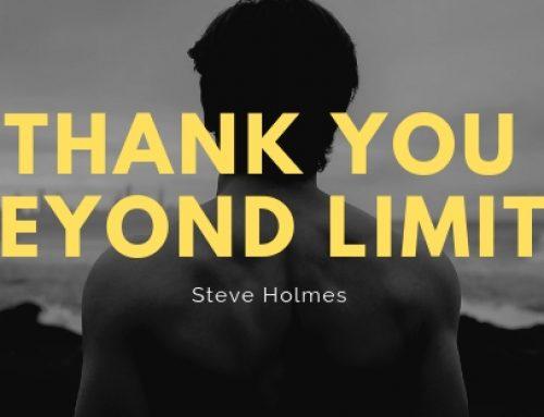 A Thank You beyond limits